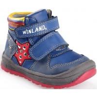 Winland Παιδικά μποτάκια με δερμάτινο πάτο και ανατομικό πέλμα